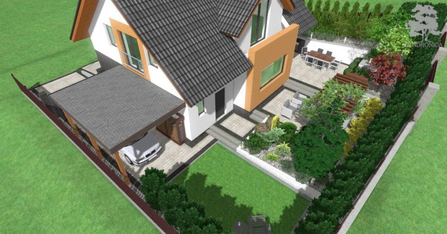 mały ogród na dużych różnicach poziomów