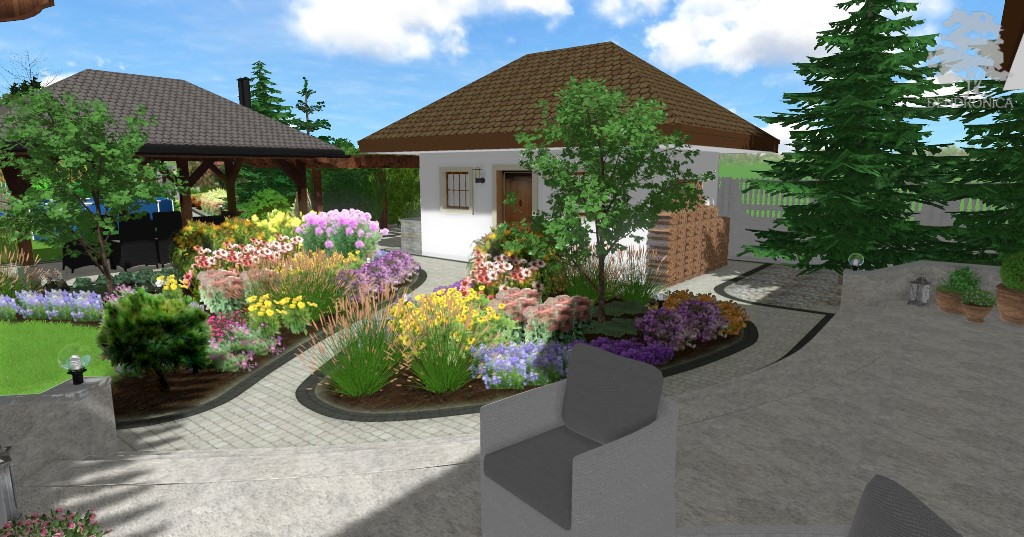 rustykalny ogród z bylinami - projekt