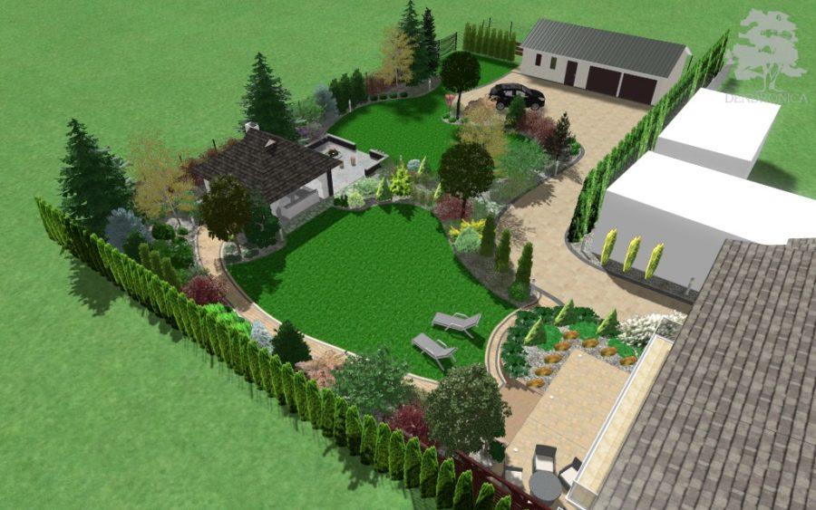 koncepcja ogrodu o swobodnym układzie