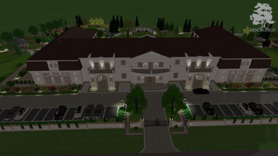 parking i wjazd na teren domu weselnego