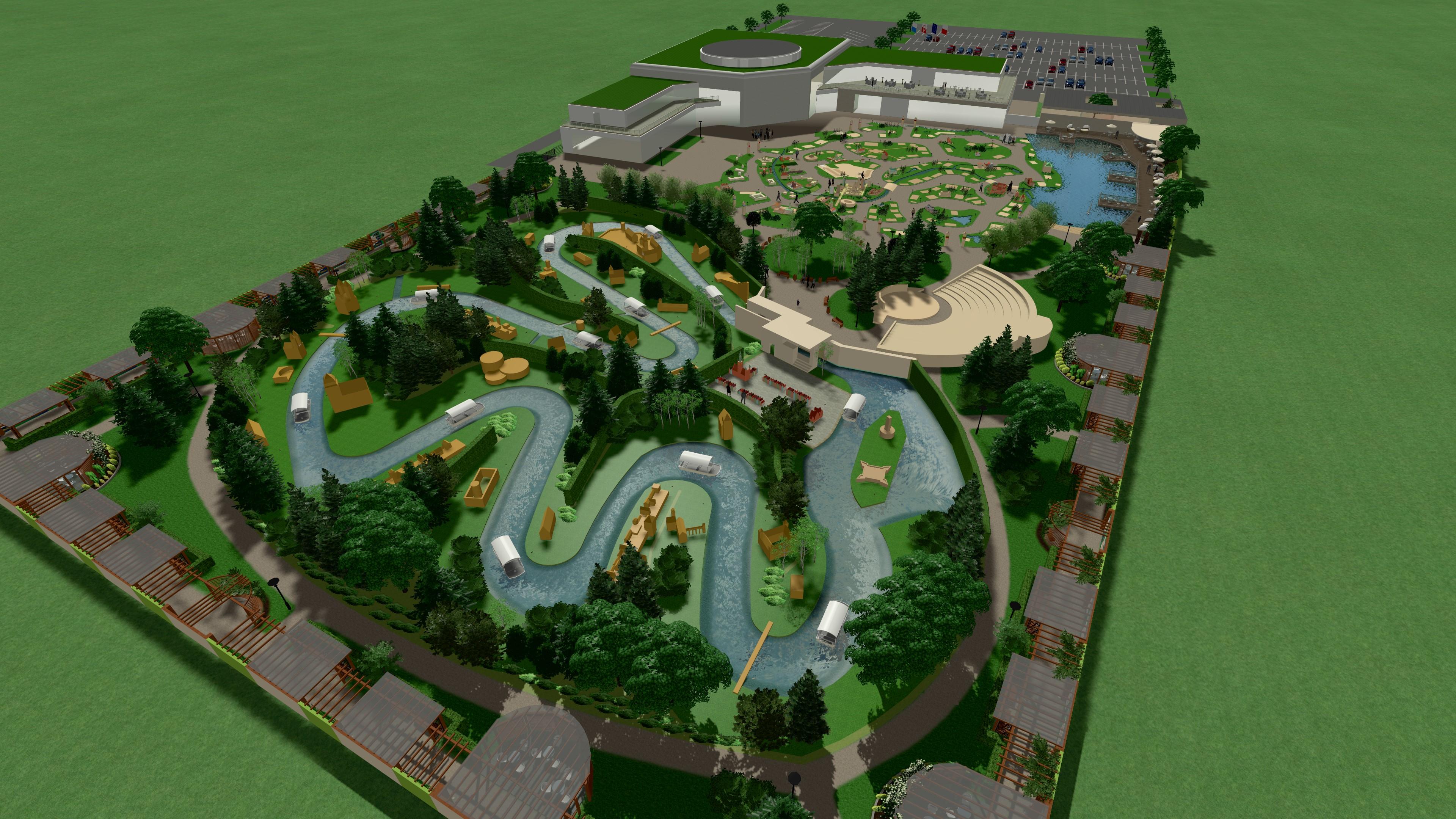 projekt zieleni w parku miniatur mikropolska