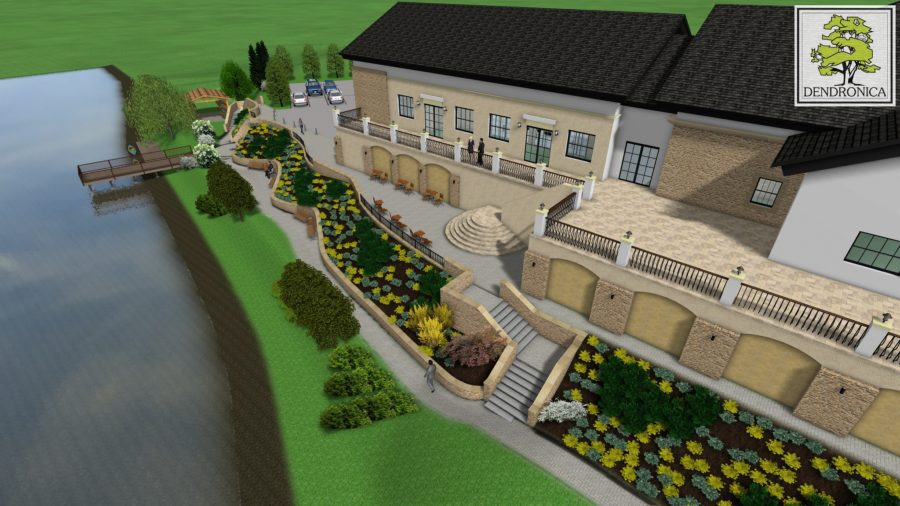 projekt zagospodarowania zieleni przy domu weselnym w przedborzu