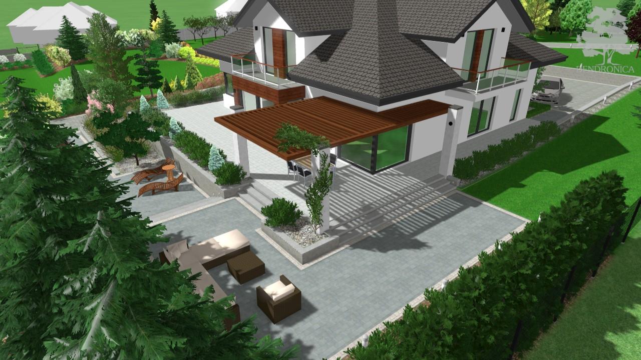 pergola przy nowoczesnym domu