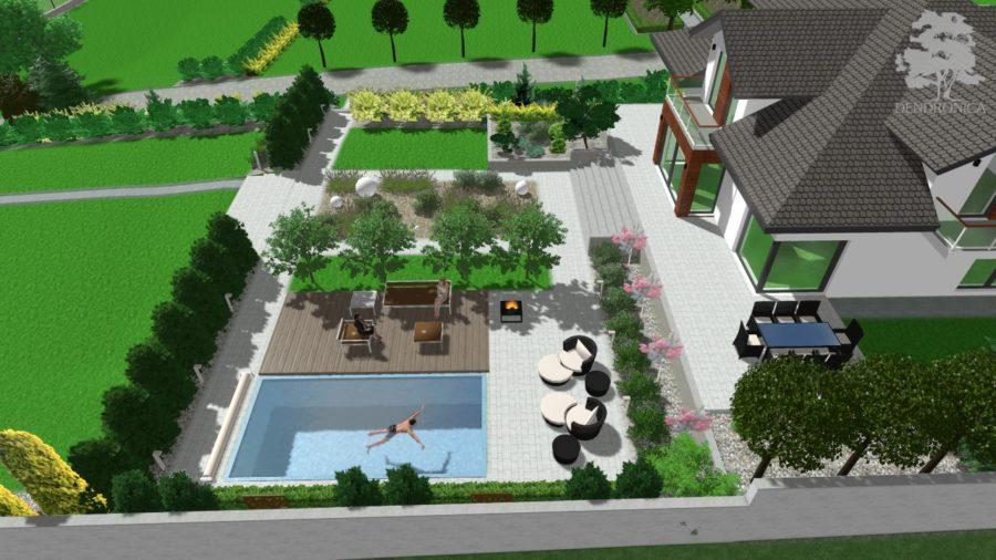 wyjątkowy nowoczesny ogród