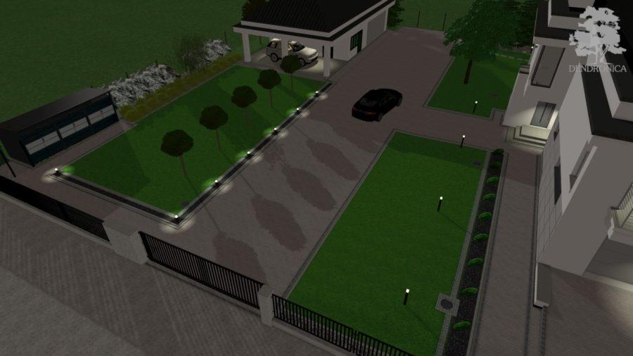 oświetlenie w nowoczesnym ogrodzie