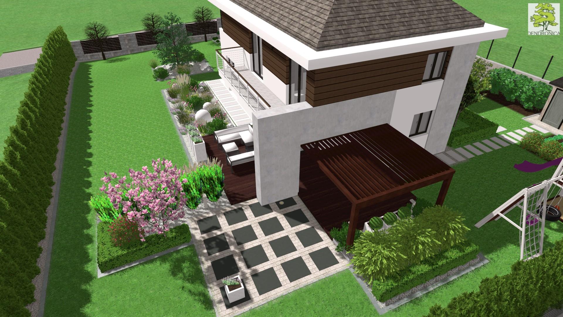 Kielce Dyminy - projekt nowoczesnego ogrodu
