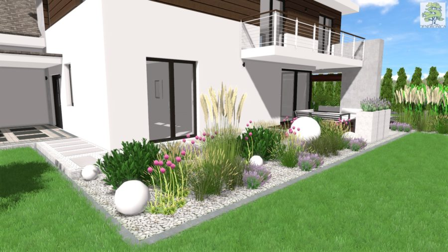 projekt ogrodu - wizualizacja 3D