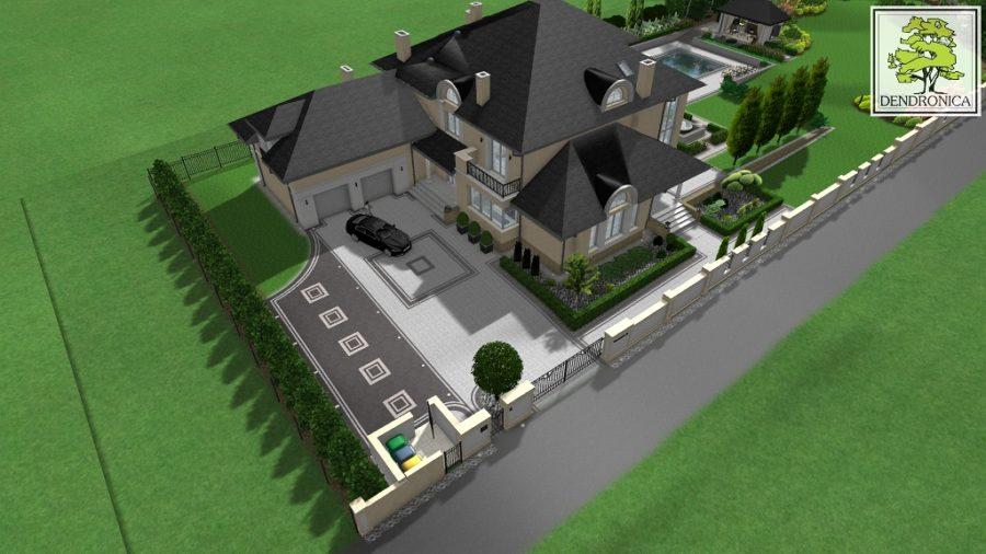 rezydencja, mansion garden