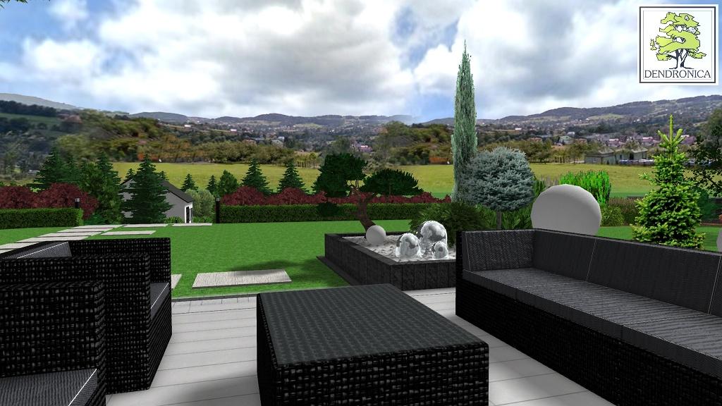 ogród z widokiem na limanowskie wzgórza