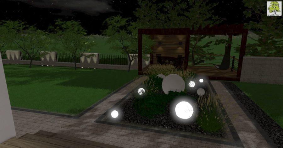 projekt oświetlenia ogrodu