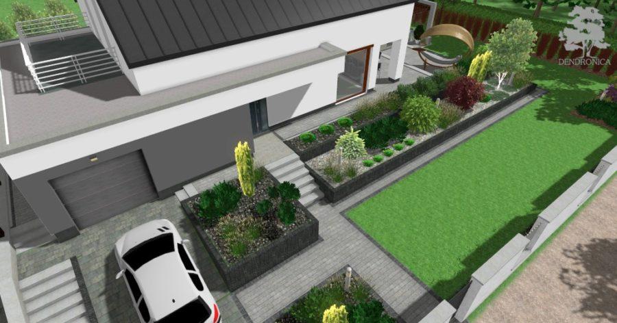 nowoczesny projekt ogrodu - contemporary garden